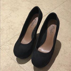Candies high heel wedges, brand new